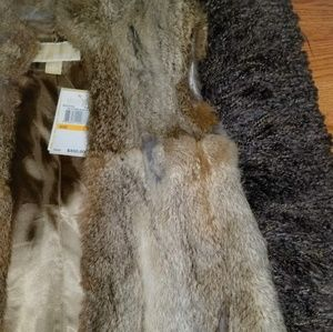 🔥Michael Kors🔥 Brown Rabbit Fur Vest